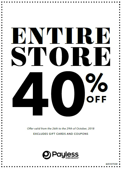40% Off at Payless!