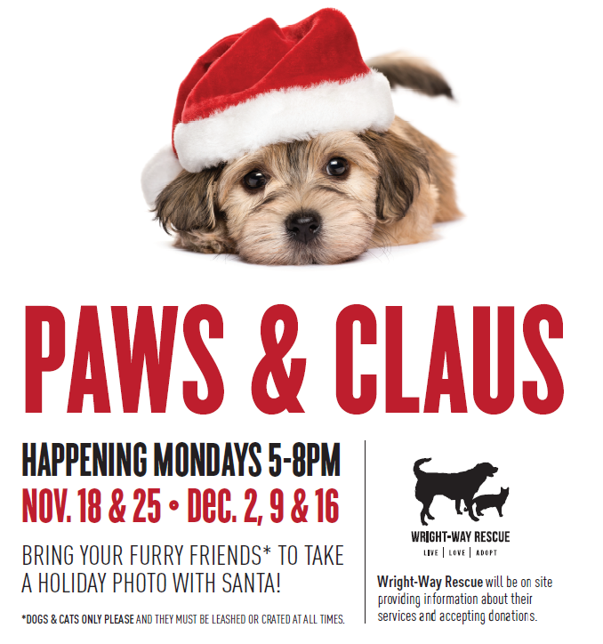 Paws & Claus sponsored by Wright Way Rescue