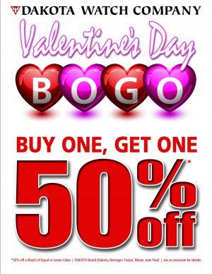 BOGO 50% at Dakota Watch Company