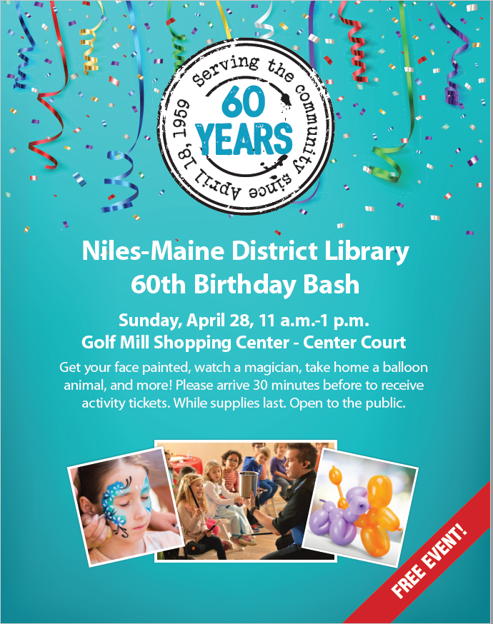 Niles-Maine District Library 60th Birthday Bash