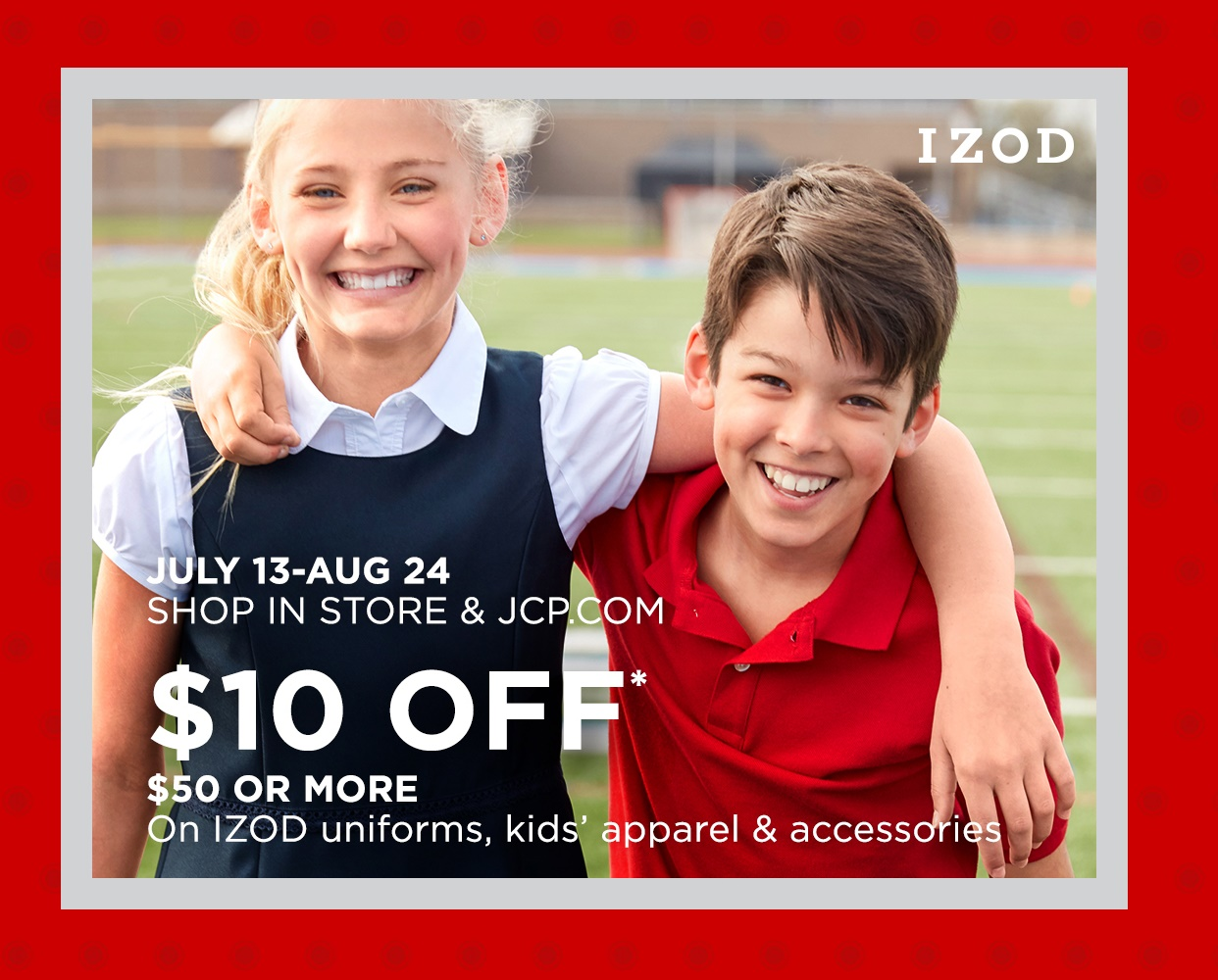 JCPenney $10 Off $50 or More*