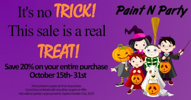 Paint N Party Halloween Sale!